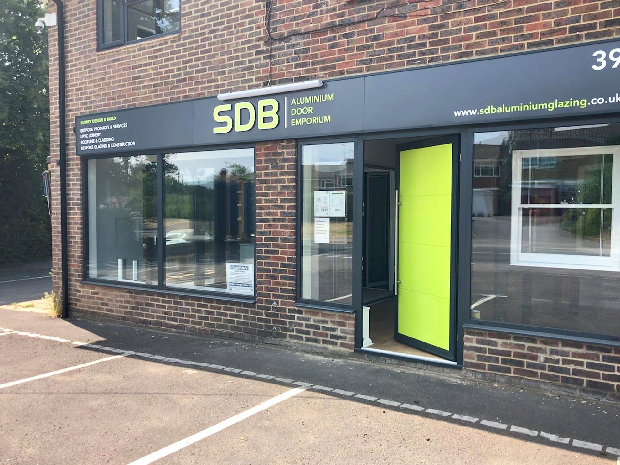 Exterior of SDB Aluminium building
